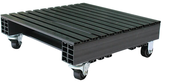Casters on a Plastic Pallet